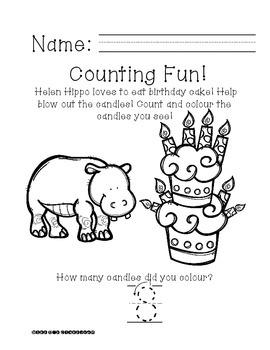 Ready, Print, Go! Helen Hippo Can Count
