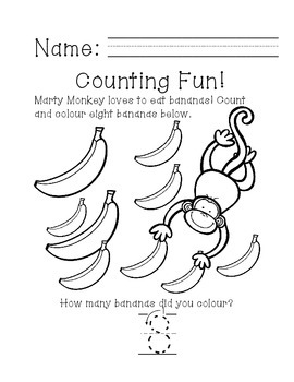 Ready, Print, Go! Marty Monkey Can Count