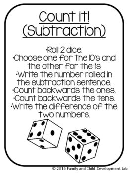 Ready, Print, Go! Math Centers Two-Digit Addition and Subtraction