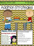 Ready, Print, Go! No-Prep Math Center Addition Strategies to 20