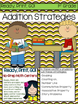 Ready, Print, Go! No-Prep Math Center Addition Strategies to 20