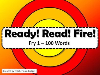 Sight Words Ready! Read! Fire! Target Game Fry Words 1-100