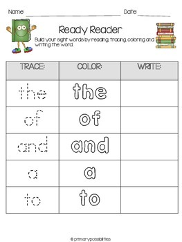 Ready Reader Word Work (Fry's First 100 Words)