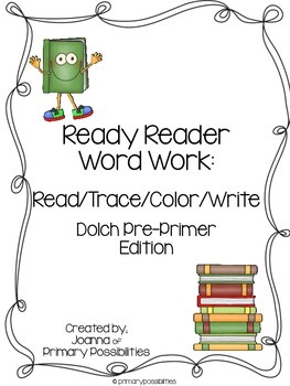 Ready Reader Word Work for Dolch Words (Pre-Primer)
