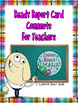 Ready Report Card Comments for Teachers {Graphics Overhaul}