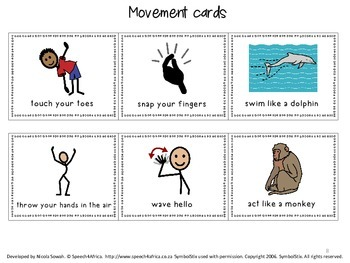 Ready Set Action: Open-ended movement game (articulation in isolation)
