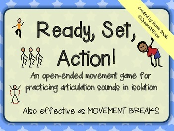 Ready Set Action: Open-ended movement game (articulation i