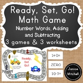 Ready Set GO! Math Game for K-3 Additon, Subtraction or Nu