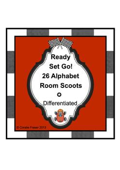 Ready Set Go! 26 Alphabet Room Scoots - Differentiated