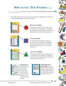 Ready! Set! Go! Literacy Centers: Level 1 (eBook)