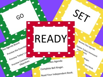 Ready Set Go Poster Set for Middle School