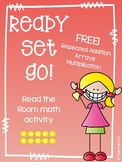 Multiplication/Arrays Ready Set Go! Read the Room freebie