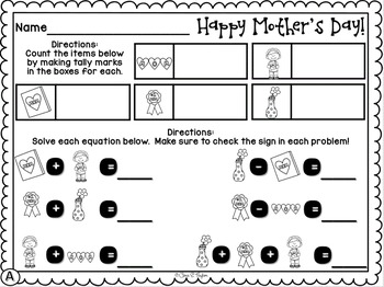 Ready, Set, Graph... Mother's Day Graphing for Young Learners