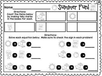 Ready, Set, Graph... Summer Fun Graphing for Young Learners
