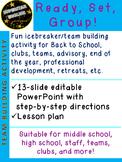 Ready Set Group! Icebreaker Advisory High School Middle Sc
