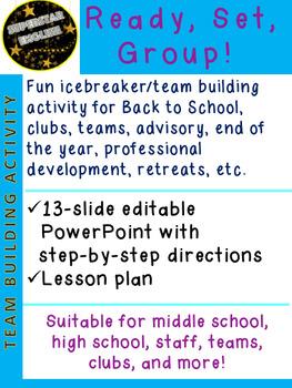 Ready Set Group! Icebreaker Back to School Advisory grades 6-12