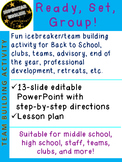 Ready Set Group! Icebreaker Advisory Middle/High School BT
