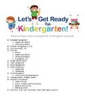 Ready! Set! Kindergarten! Checklist
