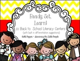 Ready, Set, Learn Literacy Centers for Back to School {Bui