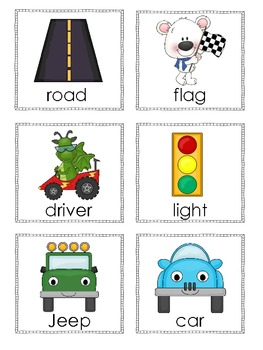 Ready, Set, Learn with Cars - Car Themed Math and Literacy Centers
