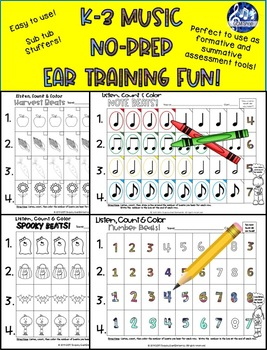Music: Lessons, I Can Count, Rhythms, Ear Training Games, Differentiated