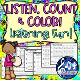 MUSIC ASSESSMENTS: LISTEN, COUNT & COLOR - No-Prep Activit