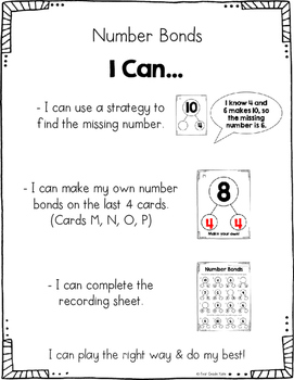First Grade Math Centers - Month 1 Back to School