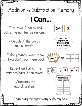 First Grade Math Centers for Month 3
