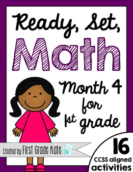 First Grade Math Centers for Month 4