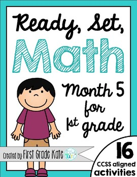 First Grade Math Centers for Month 5