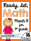 First Grade Math Centers for Month 8
