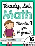 First Grade Math Centers for Month 9