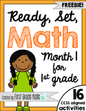 First Grade Math Centers FREEBIE