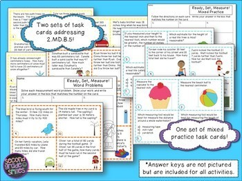Measurement Task Cards for the Second Grade Common Core