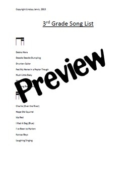 "Elementary Music Yearly Planning ""Ready, Set, Plan!"" - Yearly plans & song lists"