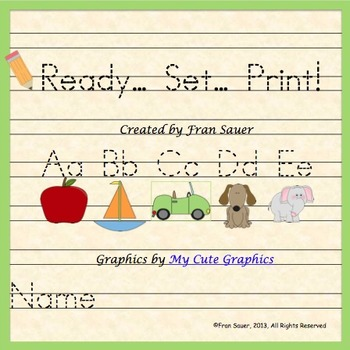 Alphabet Activities ~ Ready... Set... Print!