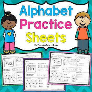 Ready, Set, Print! Alphabet Mats - Letters Aa - Zz