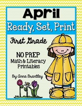 Ready, Set, Print: April Math and Literacy Printables