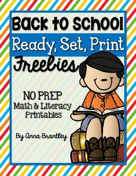 Ready, Set, Print: Back to School Freebies
