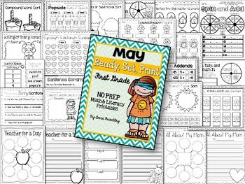 Ready, Set, Print: May Math and Literacy Printables