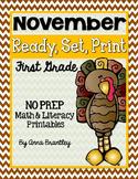 Ready, Set, Print: November Math and Literacy Printables