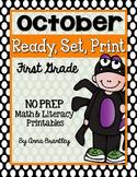 Ready, Set, Print: October Math and Literacy Printables