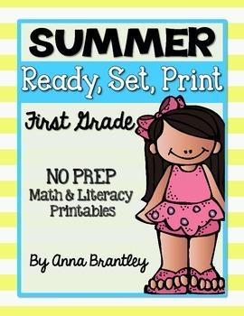 Ready, Set, Print: Summer Math and Literacy Printables