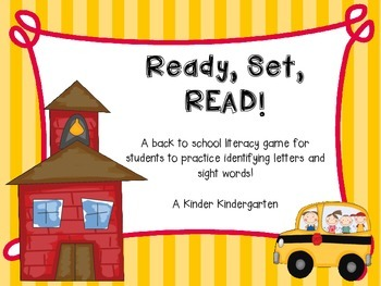 Ready, Set, READ! (Editable)