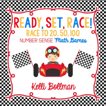 Ready, Set, Race! {Race to 20, 50, 100} Math Games {FREE}