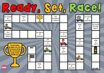 Ready, Set, Race! Themed Game Board