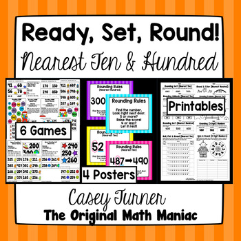 Ready, Set, Round! {Nearest Ten & Hundred} Posters, Games, Printables