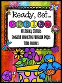 Ready, Set... SPRING {10 Literacy Stations & Interactive L