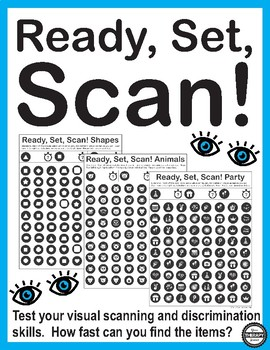 Ready Set Scan - Visual Scanning and Discrimination Activities