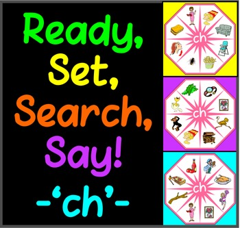 Ready, Set, Search, Say! – 'ch' –  articulation / speech therapy game
